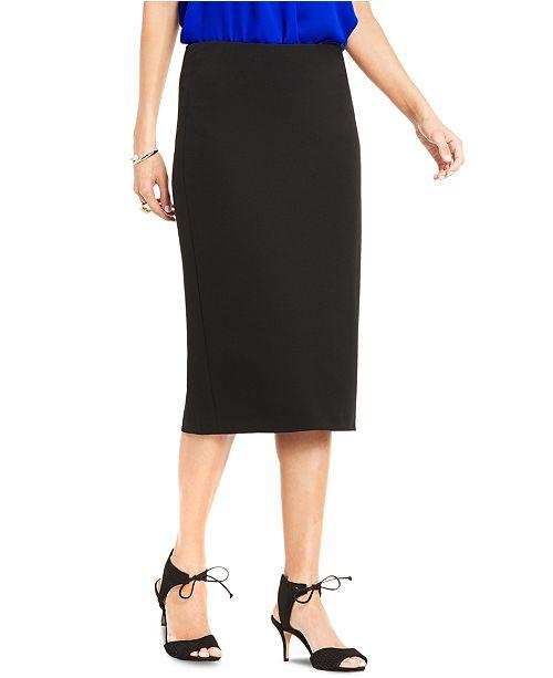 Vince Camuto Petite Crepe Ponté-Knit Pencil Skirt