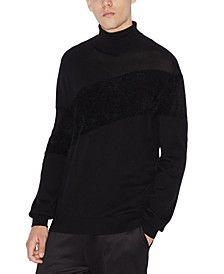 Men's Textured Diagonal Turtleneck Sweater