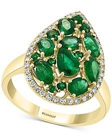 EFFY® Emerald (2 ct. t.w.) & Diamond (1/6 ct. t.w.) Statement Ring in 14k Gold