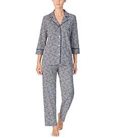 Women's Cotton Floral-Print Pajama Set