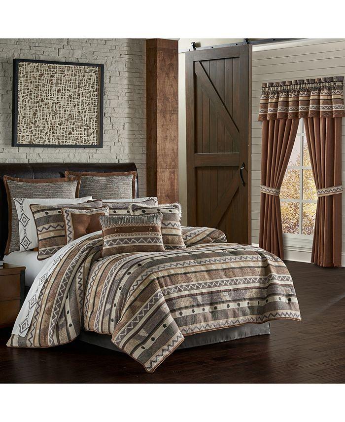 J Queen New York - Jqueen Timber Linen King 4 Piece Comforter Set