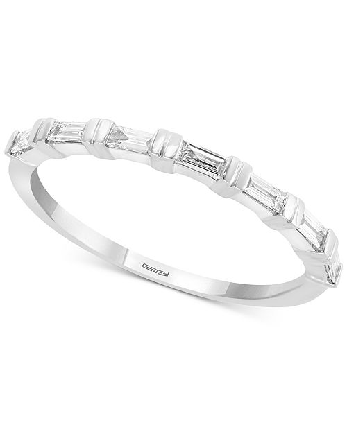EFFY Collection EFFY® Diamond Baguette Bridal Ring (1/4 ct. t.w.) in 14k White Gold