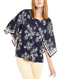 Printed Cape-Sleeve Top, Created For Macy's