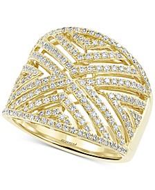 EFFY® Diamond Geometric Openwork Statement Ring (3/4 ct. t.w.) in 14k Gold