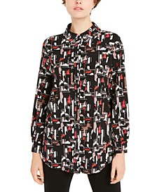 Printed Collared Shirt, Created for Macy's
