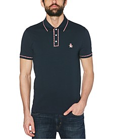 Men's Slim-Fit Candy Cane Polo Shirt