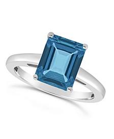 London Blue Topaz (4 ct. t.w.) Ring in Sterling Silver
