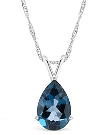 Blue Topaz (3-1/3 ct. t.w.) Pendant Necklace in Sterling Silver. Also Available in Garnet (3-1/3 ct. t.w.)