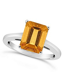 Citrine (3  ct. t.w.) Ring in Sterling Silver. Also Available in Amethyst (3-1/10 ct. t.w.)