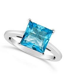 Blue Topaz (3-1/4 ct. t.w.) Ring in Sterling Silver
