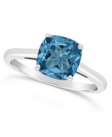 London Blue Topaz (2-3/4 ct. t.w.) Ring in Sterling Silver. Also Available in Garnet (2-3/4 ct. t.w.)