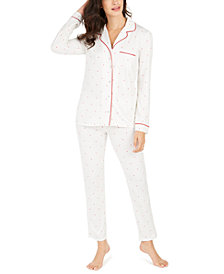 Alfani Women's Printed Pajamas Set, Created For Macy's