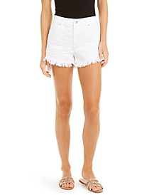 INC Frayed-Hem Denim Shorts, Created for Macy's