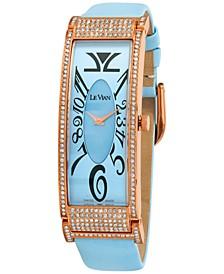 Women's Swiss Diamond (1-3/5 ct. t.w.) Blue Leather Strap Watch 20mm