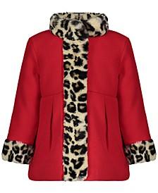 Toddler & Little Girls Faux-Fur-Trim Coat