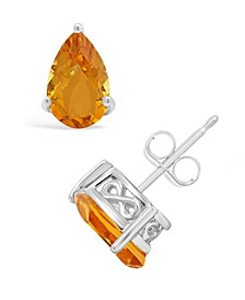 Amethyst (1-5/8 ct. t.w.) Stud Earrings in Sterling Silver. Also Available in Citrine, Garnet, Sky Blue Topaz, Rose Quartz, London Blue Topaz and Peridot