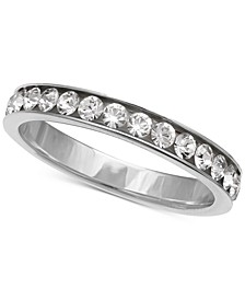Cubic Zirconia Channel-Set Band in Sterling Silver, Created for Macy's