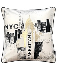 """Decorative Collection Nyc Print Pillow, 20"""" X 20"""""""