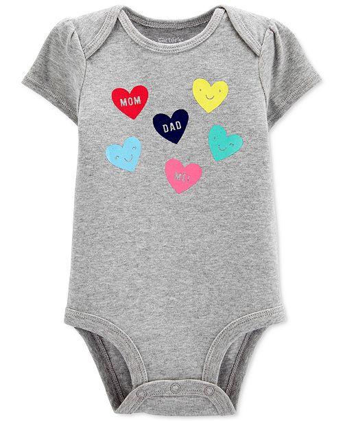 Carter's Baby Girls Cotton Heart-Print Bodysuit