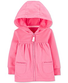 Baby Girls Cotton French Terry Hoodie