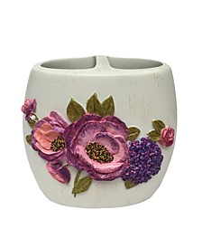 Purple Floral Garden Toothbrush Holder