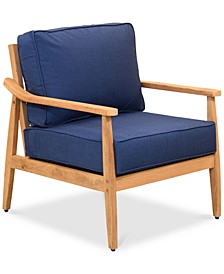 Savona Teak Outdoor Club Chair with Sunbrella® Cushions