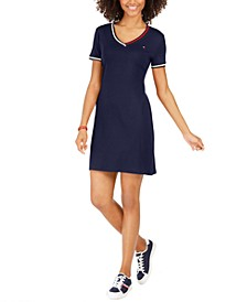Cotton Striped-Trim T-Shirt Dress, Created for Macy's