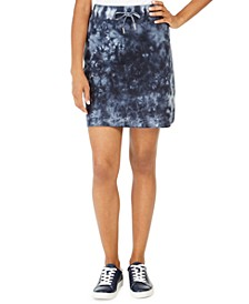 Cotton Tie-Dyed Drawstring Skirt, Created For Macy's