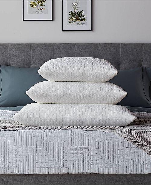 Lucid Fiber and Shredded Foam Pillow with Zippered Inner Cover, King