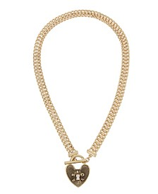 LOVERS Heart Lock Pendant Necklace