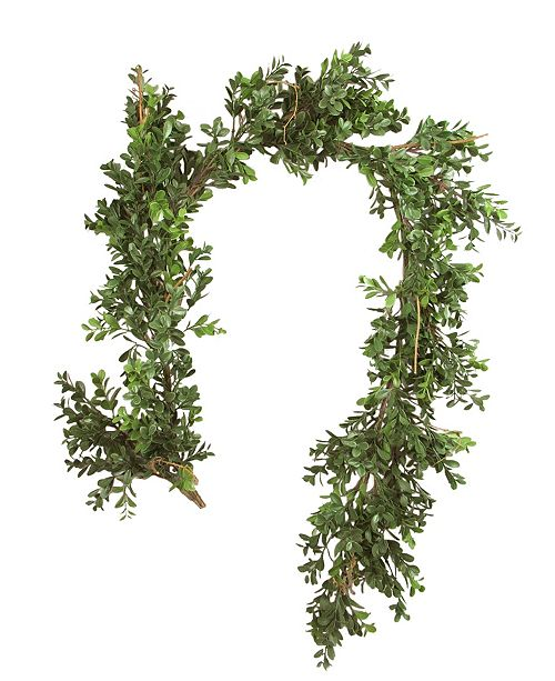 """Mills Floral 58"""" Artificial Boxwood Garland"""