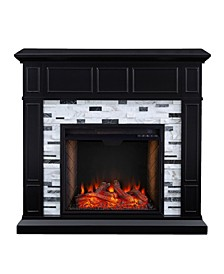 Lysander Marble Alexa-Enabled Electric Fireplace
