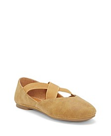 Kids by Vince Camuto Big Girls and Little Girls Ballet Flat Slip On with Double Gore Criss Cross Straps