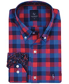Big Boys Blue And Red Check Button-Down Shirt