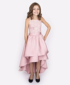 Big Girls Double Skirt Ballgown with Sequin Lace Top