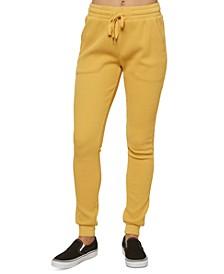 Juniors' Kadence Cotton Waffle-Knit Pants