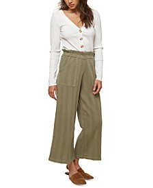 Juniors' Jasper Cotton Paperbag Pants