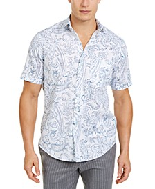 Men's Ikatileno Paisley Shirt, Created for Macy's