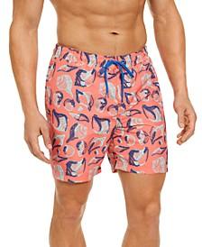 """Men's Seashell 7"""" Swim Trunks, Created for Macy's"""