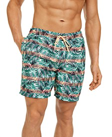 Men's Leaf Print Swim Trunks, Created For Macy's