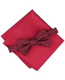 Men's Geo Bow Tie & Pocket Square Set, Created for Macy's