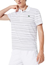 Men's Performance Stretch Striped Polo Shirt
