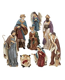 9-Inch Resin Nativity Set of 8 Pieces