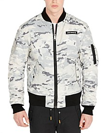 Men's Snow Camo MA-1 Reversible Bomber Jacket