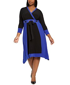 Trendy Plus Size Grommet Waist Dress