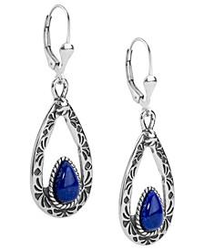 Blue Lapis Teardrop Dangle Earrings
