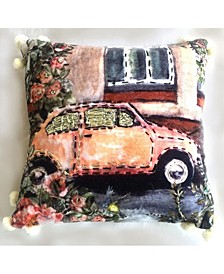 Car Collection Pillow Cover