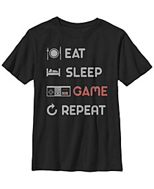 Nintendo Big Boy's Eat Sleep Game Repeat Short Sleeve T-Shirt