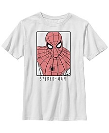 Marvel Big Boy's Spider-Man Far From Home Ornate Simple Poster Short Sleeve T-Shirt