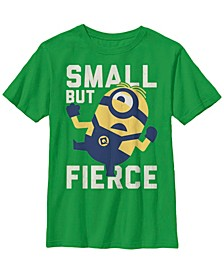 Despicable Me Big Boy's Minions He Is Small But Fierce Short Sleeve T-Shirt
